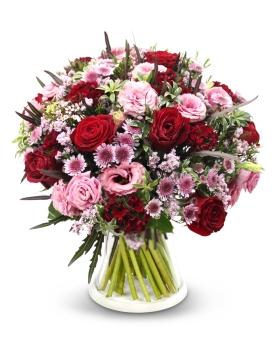 זר פרחים ורוד בורדו