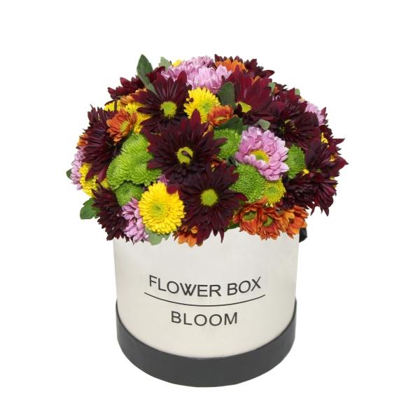 זר פרחים בקופסא