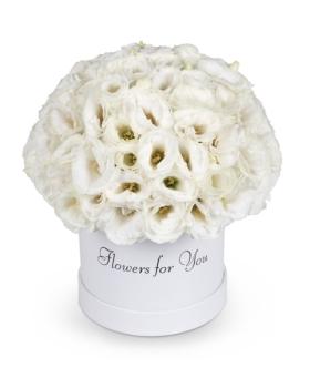קופסת פרחים לבנים