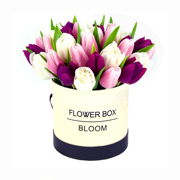 קופסת פרחים טוליפים