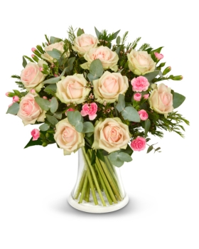 זר ורדים ורודים