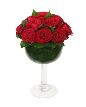 סידור ורדים אדומים