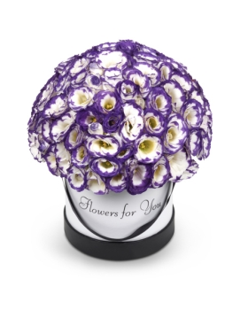 קופסאת פרחים סגולים